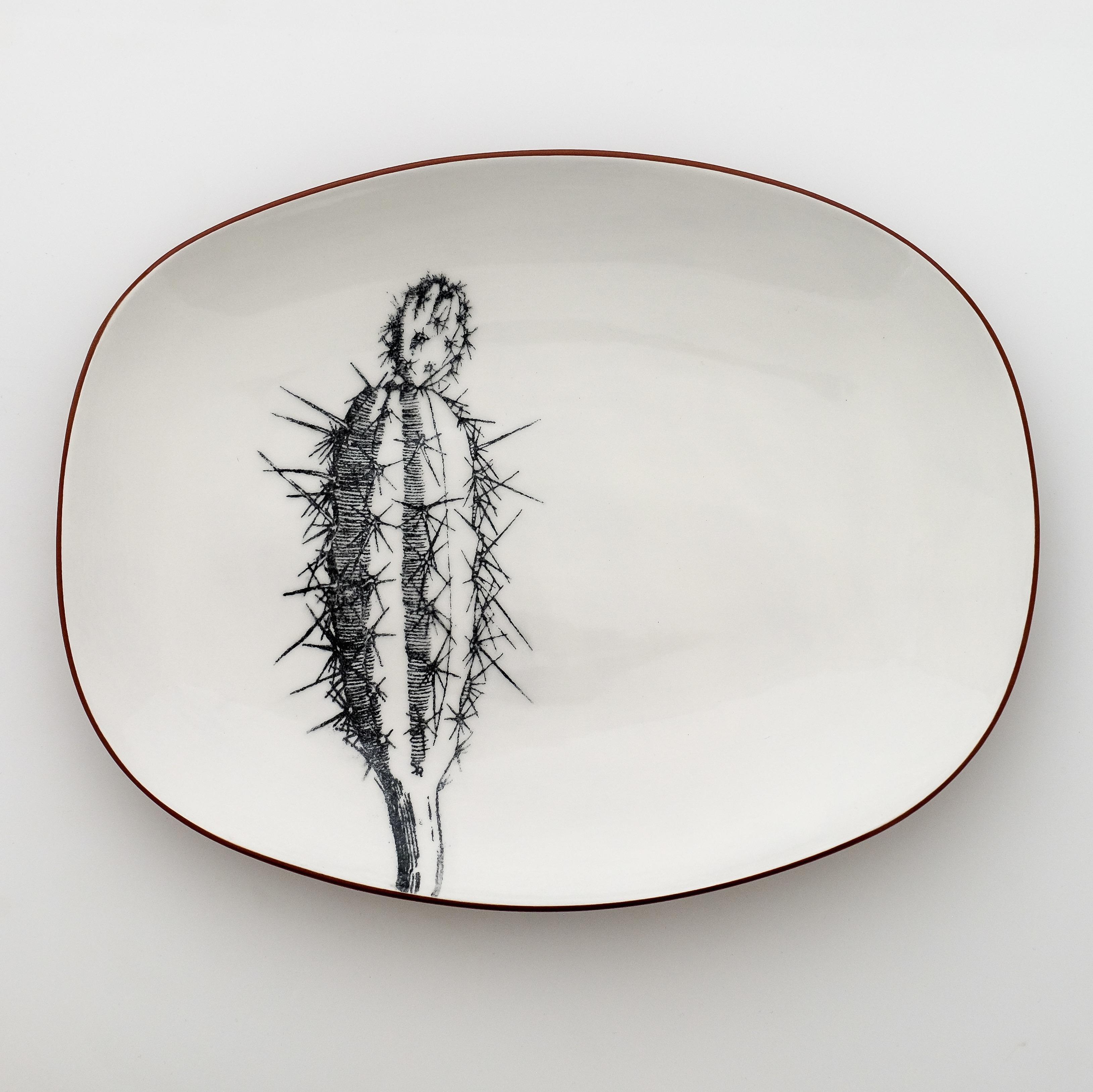 cactus oval dish