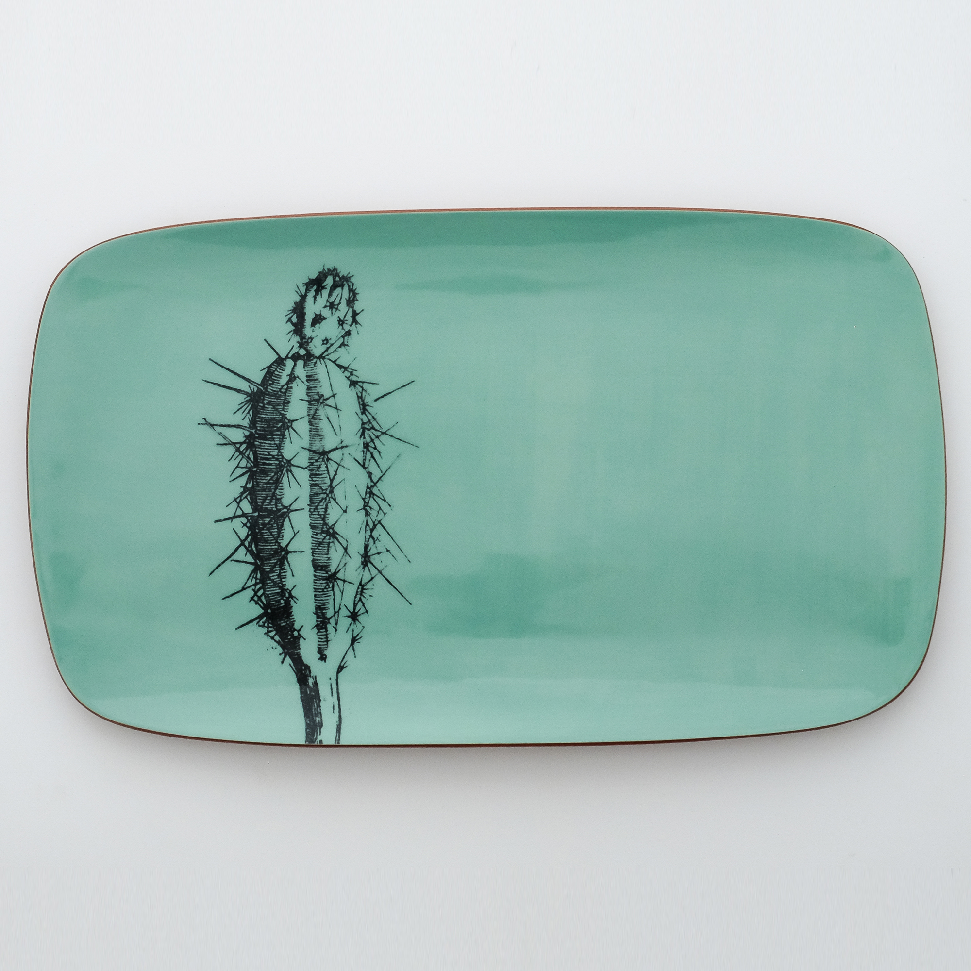 cactus serving platter