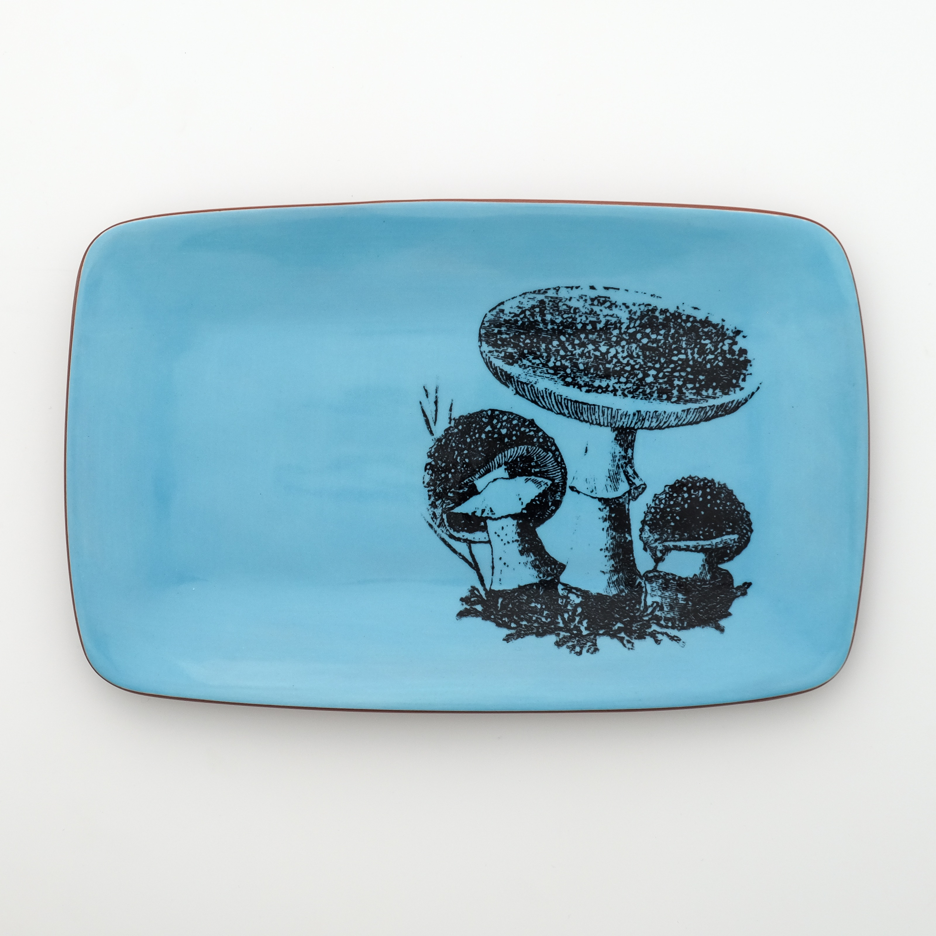 mushroom rectangle plate