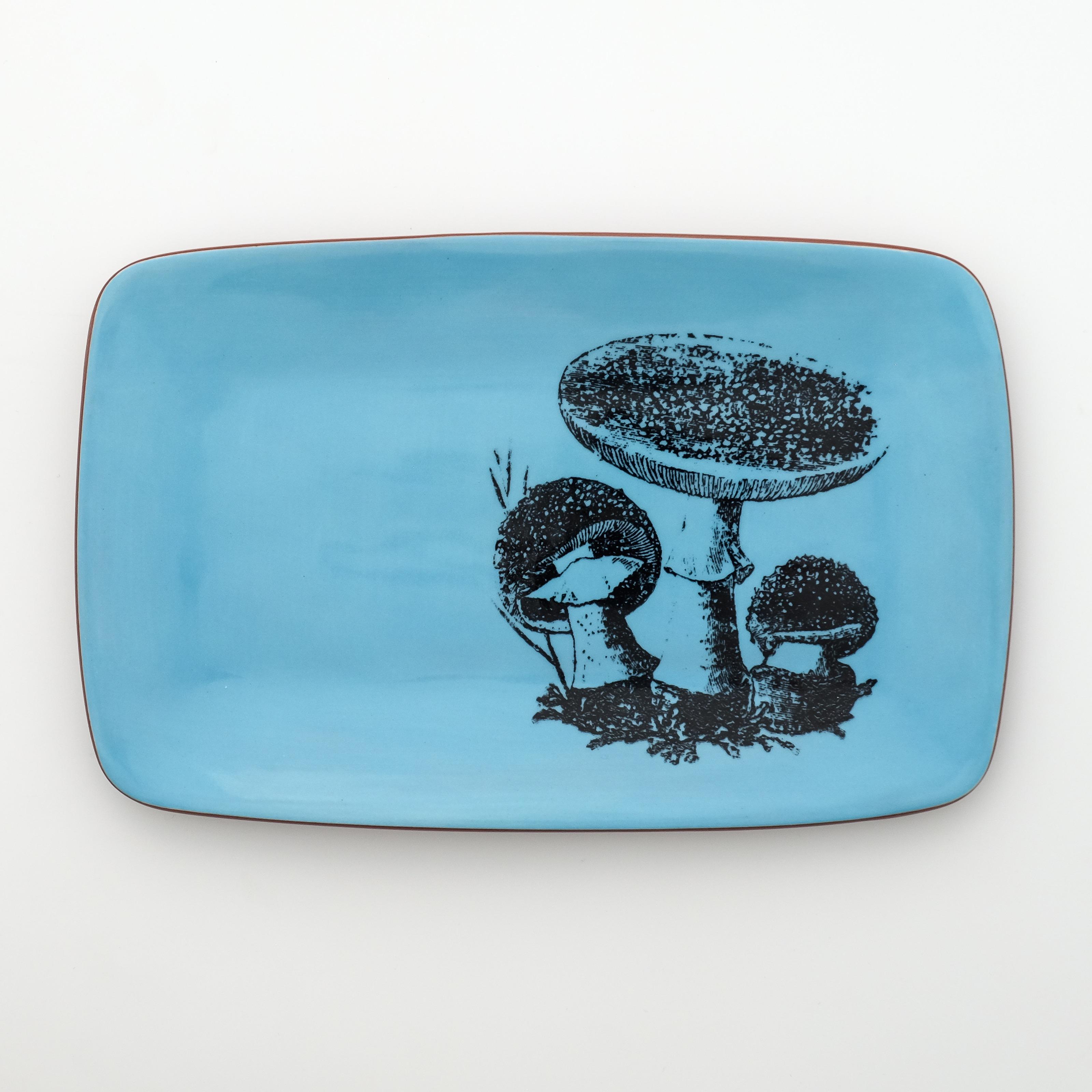 mushroom rectangle plate