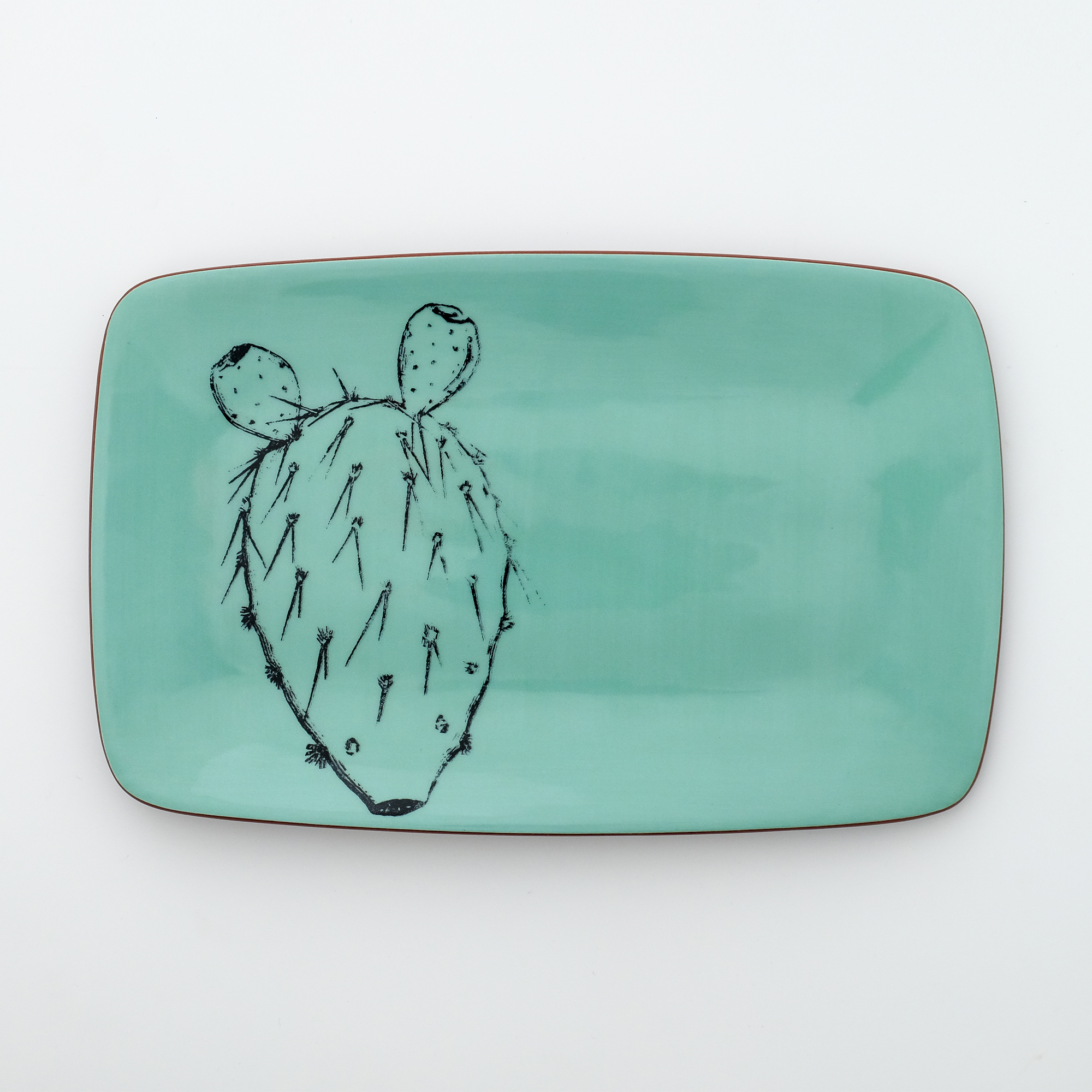 cactus rectangle plate