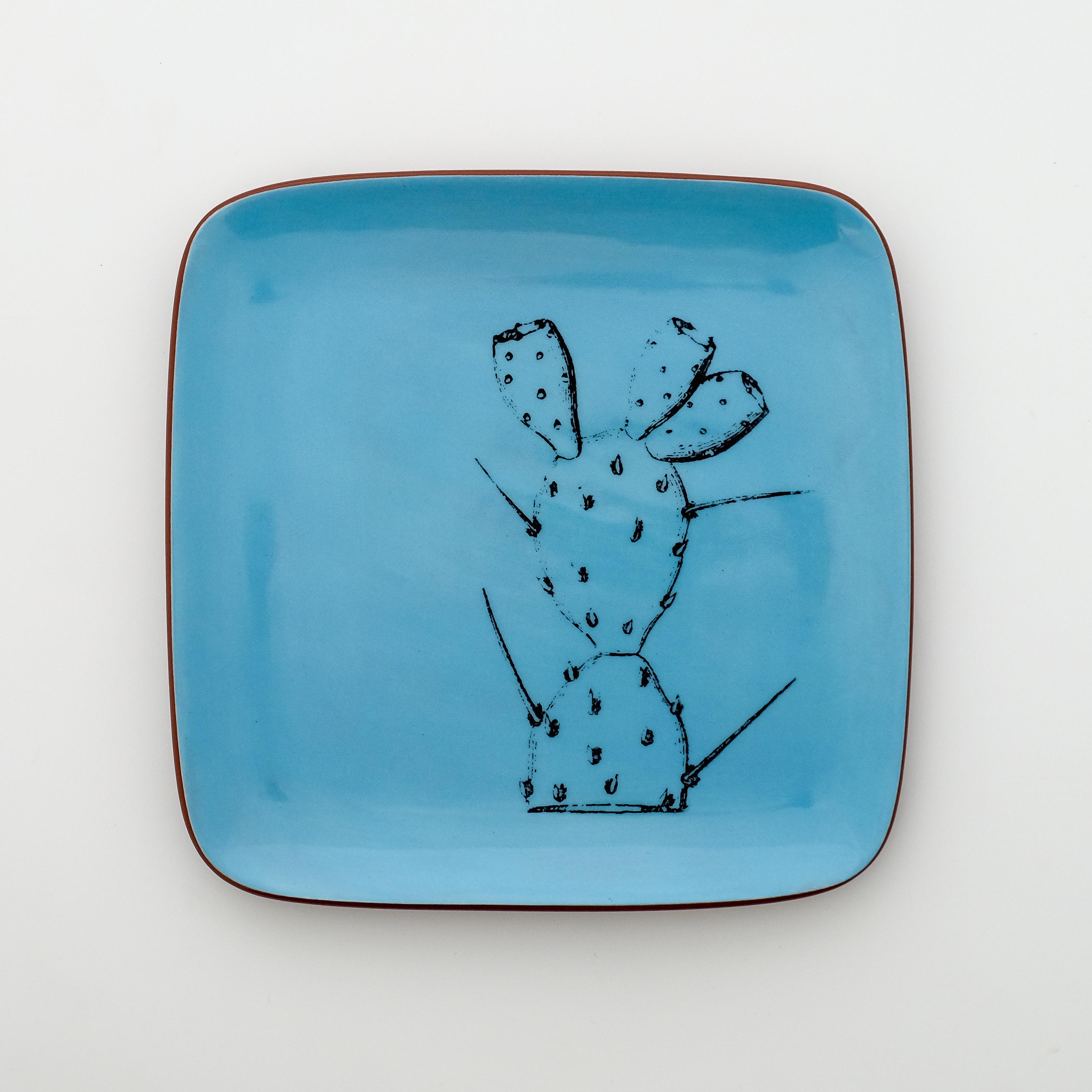 cactus square plate
